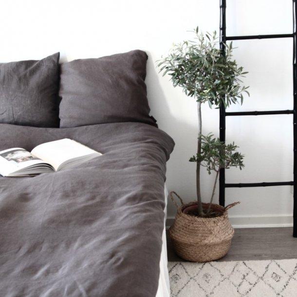 hør sengetøj Sengetøj ekstra længde, 100% Hør, Lilje, Grå, 140x220 cm   bySKAGEN hør sengetøj